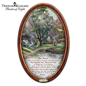 "Thomas Kinkade's Religious Art With ""The Lord's Prayer"""