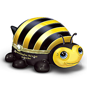 """Granddaughter, You're Cute As Can Bee!"" Porcelain Music Box"