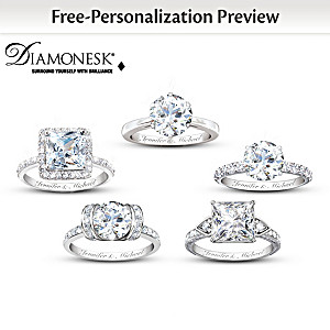 Personalized Diamonesk Bridal Ring: Choose From 5 Designs