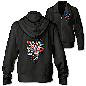 Lucky And Loving It Hoodie With Embroidery And Faux Gems