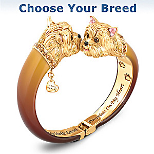 Choose Your Breed Sophistipups Dog Bangle Bracelet
