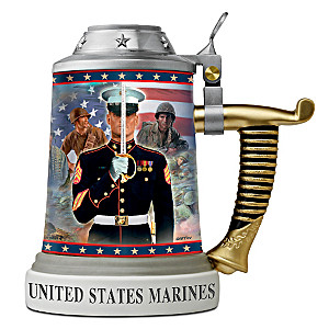 USMC Porcelain Collector Stein Showcases Art By Two Artists