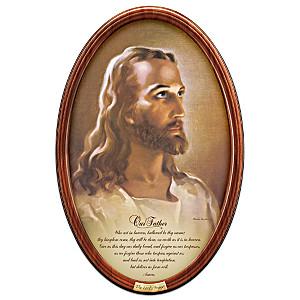 "Warner Sallman ""The Lord's Prayer"" Framed Collector Plate"