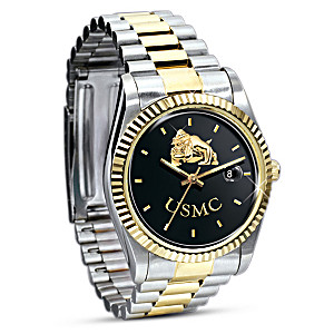 "U.S. Marines ""Semper Fi"" Stainless Steel Watch"