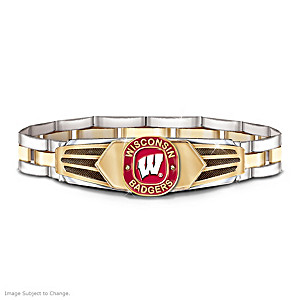 Wisconsin Badgers Men's Stainless Steel Bracelet