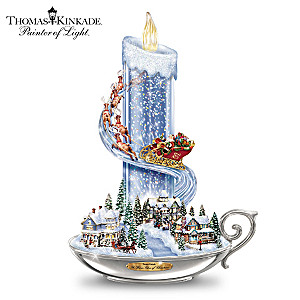 Thomas Kinkade Candle Lights With Music And Floating Glitter