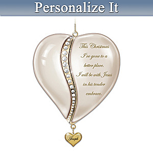Personalized Locket-Style Porcelain Remembrance Ornament