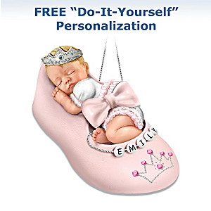Personalizable Precious Little Princess Baby Ornament