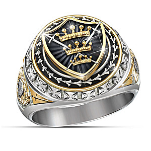 """The Legend Of Excalibur"" King Arthur-Inspired Onyx Ring"