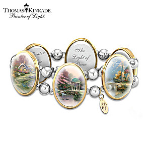 Thomas Kinkade Stretch Bracelet With His Most Beloved Art
