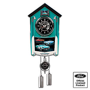 Ford Thunderbird Wall Clock Lights Up With Revving Sound