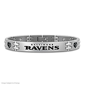 Ravens Strong! Men's Titanium Magnetic Bracelet