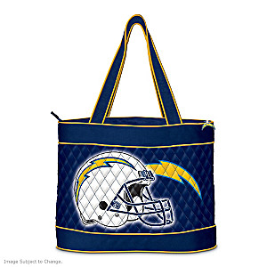 San Diego Chargers Tote Bag With Free Cosmetic Case