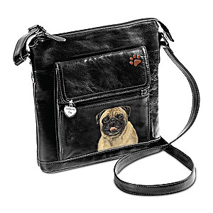I Love My Pug Crossbody Bag With Detailed Art