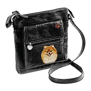 I Love My Pomeranian Crossbody Bag With Detailed Art