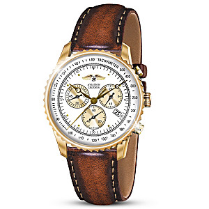 """Legends Of Aviation"" Commemorative Chronograph Watch"