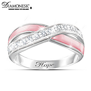"""Reflections Of Hope"" Breast Cancer Support Diamonesk Ring"