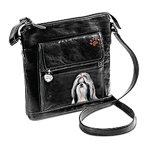 I Love My Shih Tzu Crossbody Bag With Detailed Art