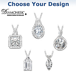 Diamonesk Pendant Necklace: Choose From 5 Designs