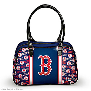 "Designer-Style Boston Red Sox ""City Chic"" Handbag"