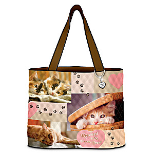 Kitty Quilted Tote Bag Helps Prevent Domestic Animal Abuse