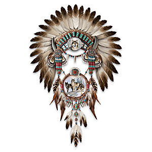 Al Agnew Sacred Powers Headdress And Dreamcatcher Wall Decor