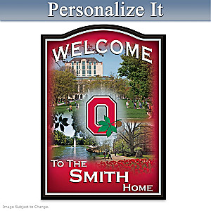 Ohio State Buckeyes Personalized Welcome Sign