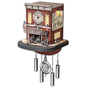 """""""Freedom Choppers"""" Wall Clock With Lights, Sound, Motion"""