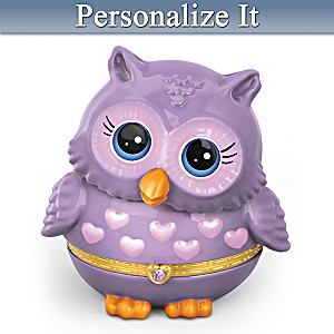 """Granddaughter Owl Always Love You"" Birthstone Music Box"