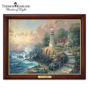 "Thomas Kinkade ""The Light Of Peace"" Illuminated Canvas Print"
