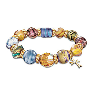 """Colors Of Faith"" Murano-style Glass Bracelet"