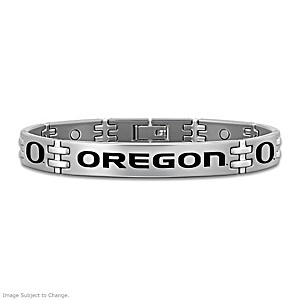 Oregon Ducks Titanium Magnetic Bracelet