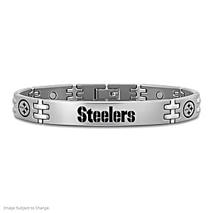 Pittsburgh Steelers Titanium Magnetic Bracelet