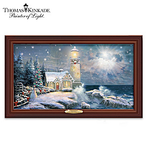 "Thomas Kinkade ""Light Your Way Home"" Lighted Canvas Print"