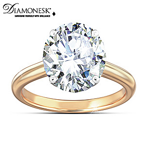 """Class Act"" Celebrity-Inspired Diamonesk Women's Ring"