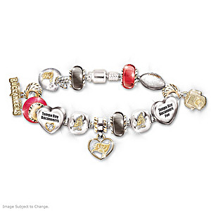 Tampa Bay Buccaneers Charm Bracelet With Swarovski Crystals