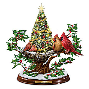 """A Merry Little Christmas"" Illuminated Musical Tabletop Tree"