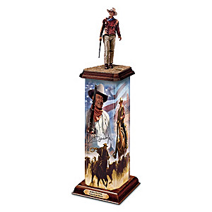 """John Wayne: An American Hero"" Illuminated Tribute Sculpture"