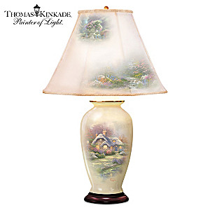 "Thomas Kinkade ""Everett's Cottage Charm"" Ginger Jar Lamp"