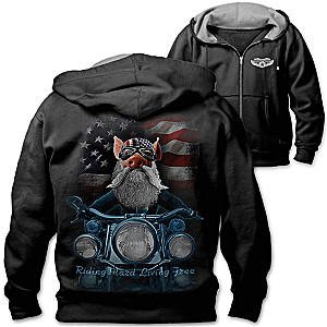 """Born To Ride"" Men's Biker Hoodie"