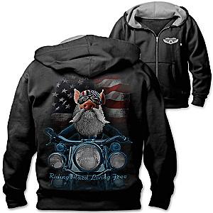 """""""Born To Ride"""" Men's Biker Hoodie"""
