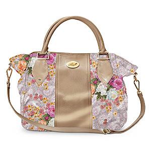 """Lena Liu """"Trellis"""" Garden Bouquet Designer Satchel"""