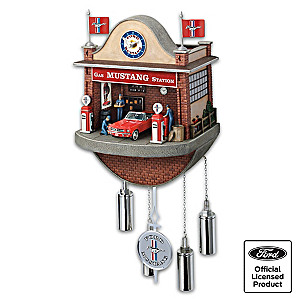 Ford Mustang Garage Wall Clock With Motion And Sound