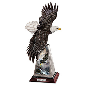 "Ted Blaylock ""Soaring Spirit"" Bald Eagle Sculpture"