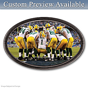 Packers Framed Wall Decor With Your Name On QB's Jersey