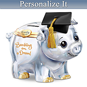 Personalized Musical Graduation Piggy Bank