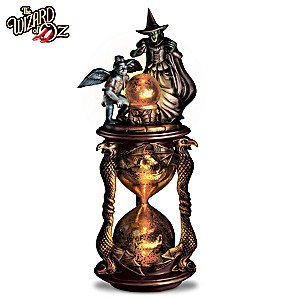 The Wizard of Oz Wicked Witch Lighted Hourglass Sculpture