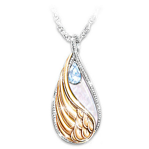 """Forever In My Heart"" Blue Topaz Pendant Necklace"