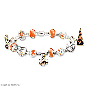 Giants 2012 World Series Champs Beaded Charm Bracelet