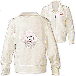 Bichon Embroidered Knit Jacket With Sequins